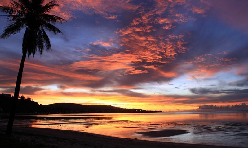 guam-beach-sunset