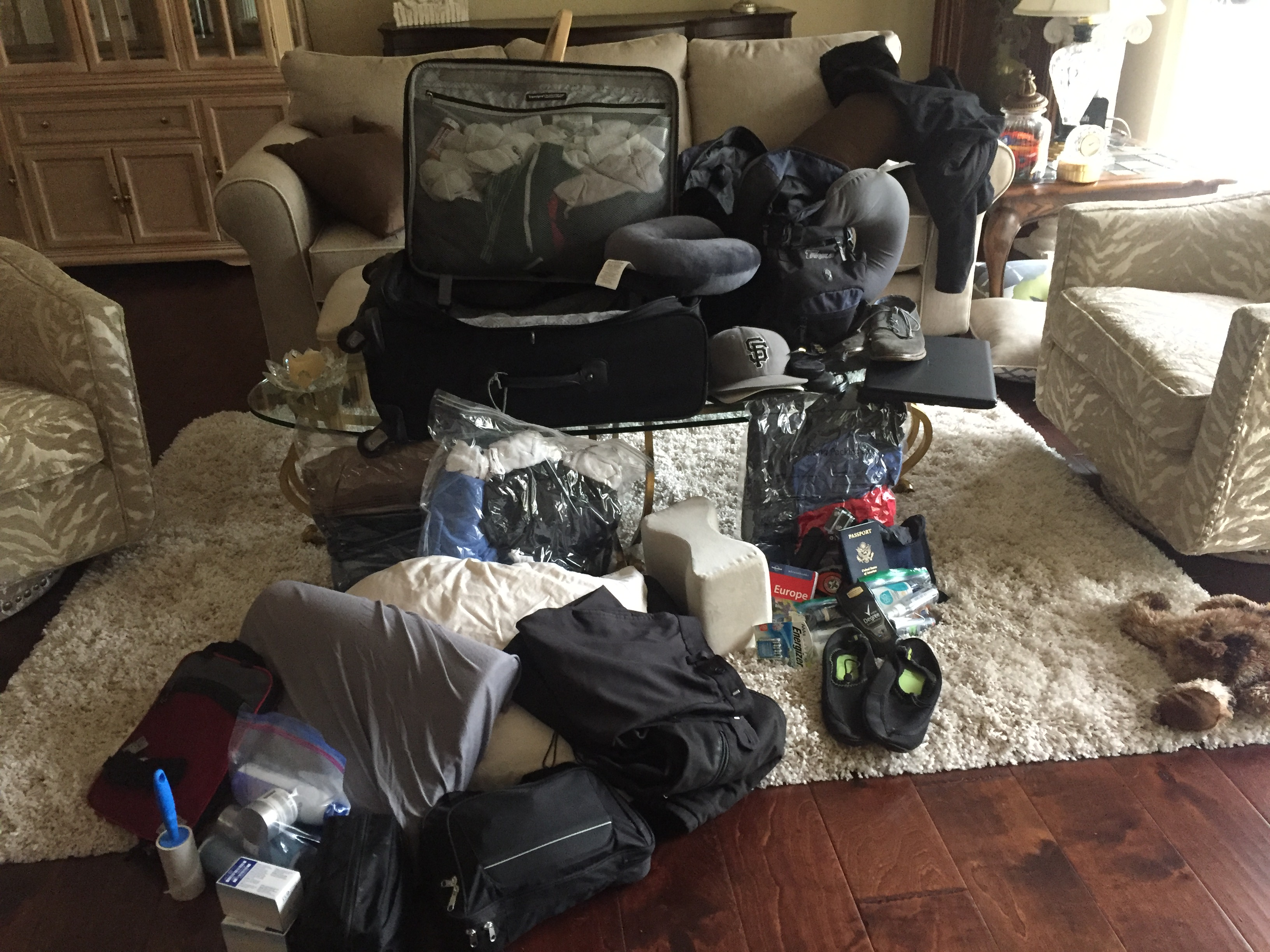 Everything we packed in our Suitcase