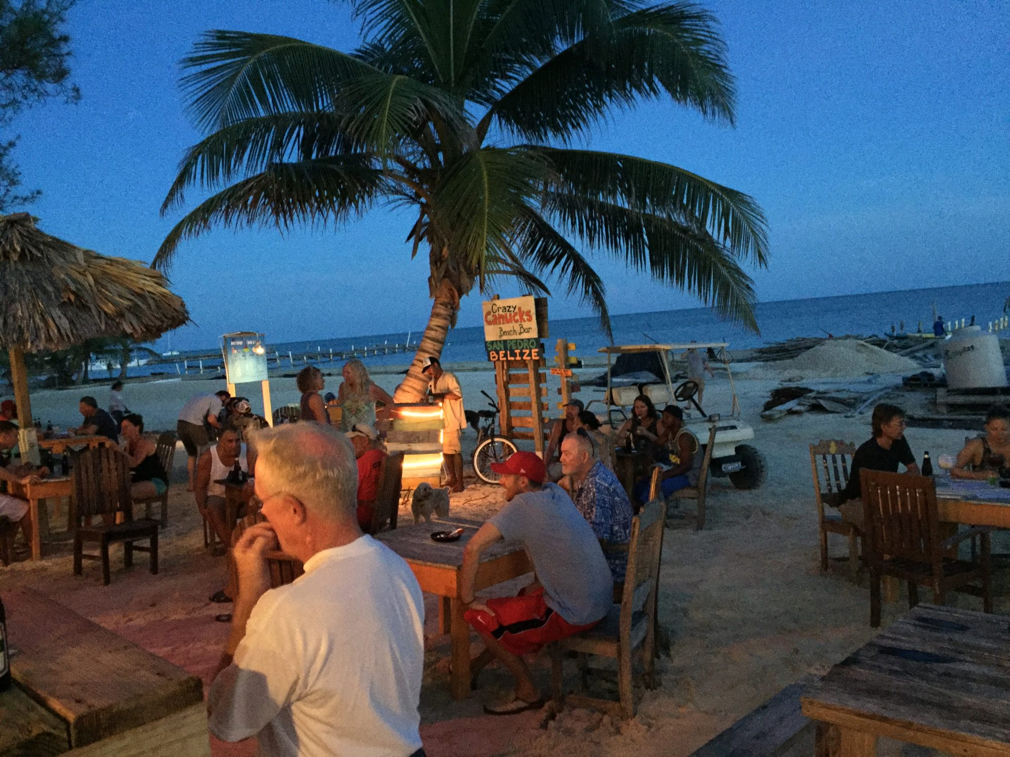 Local Bar Crazy Canucks San Pedro Belize
