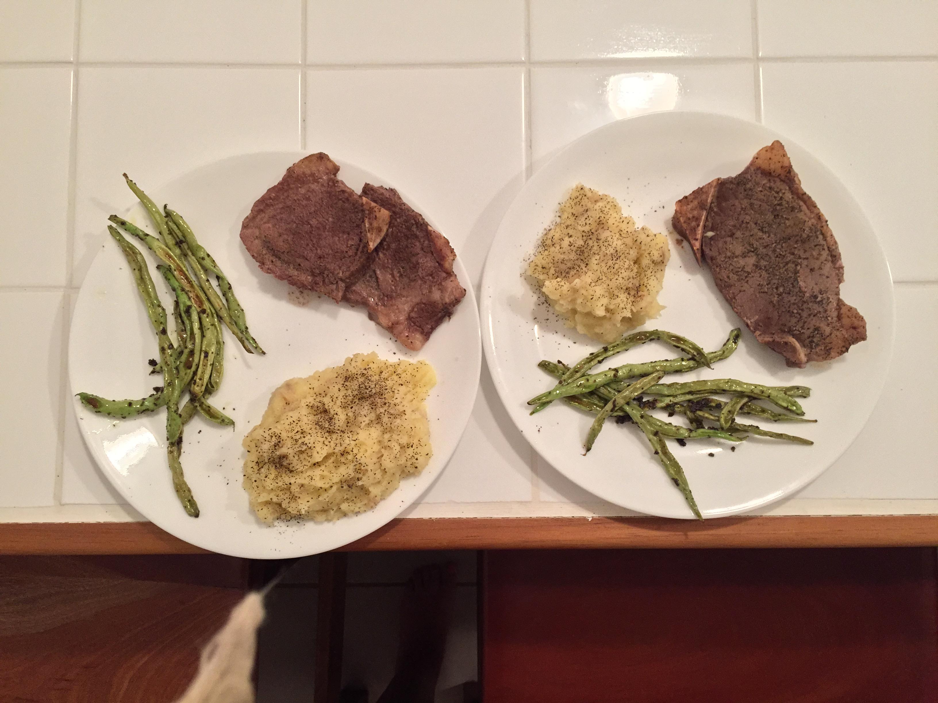 Home made steak and mash potatoes $7