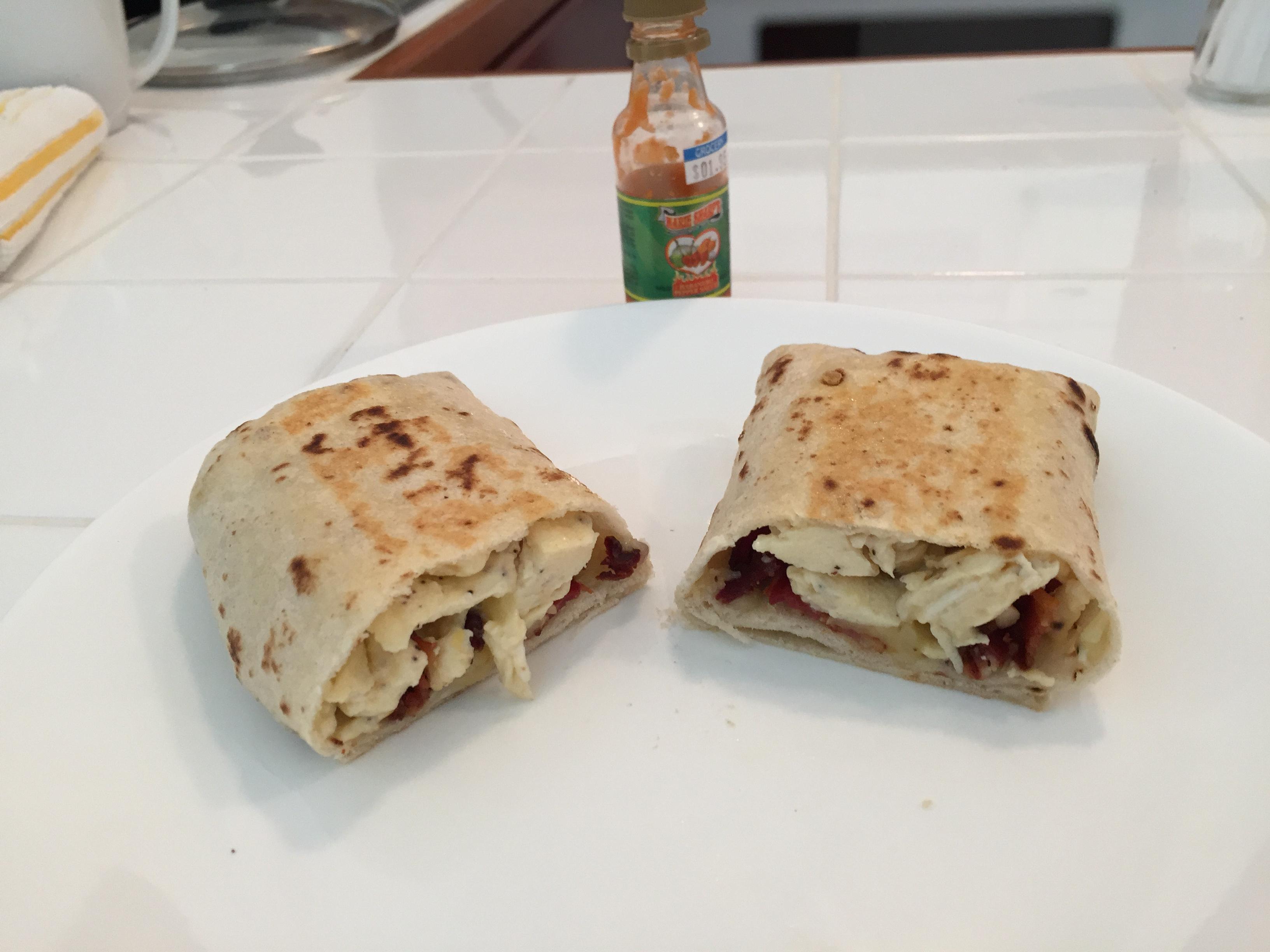 Home made Breakfast Burrito $3