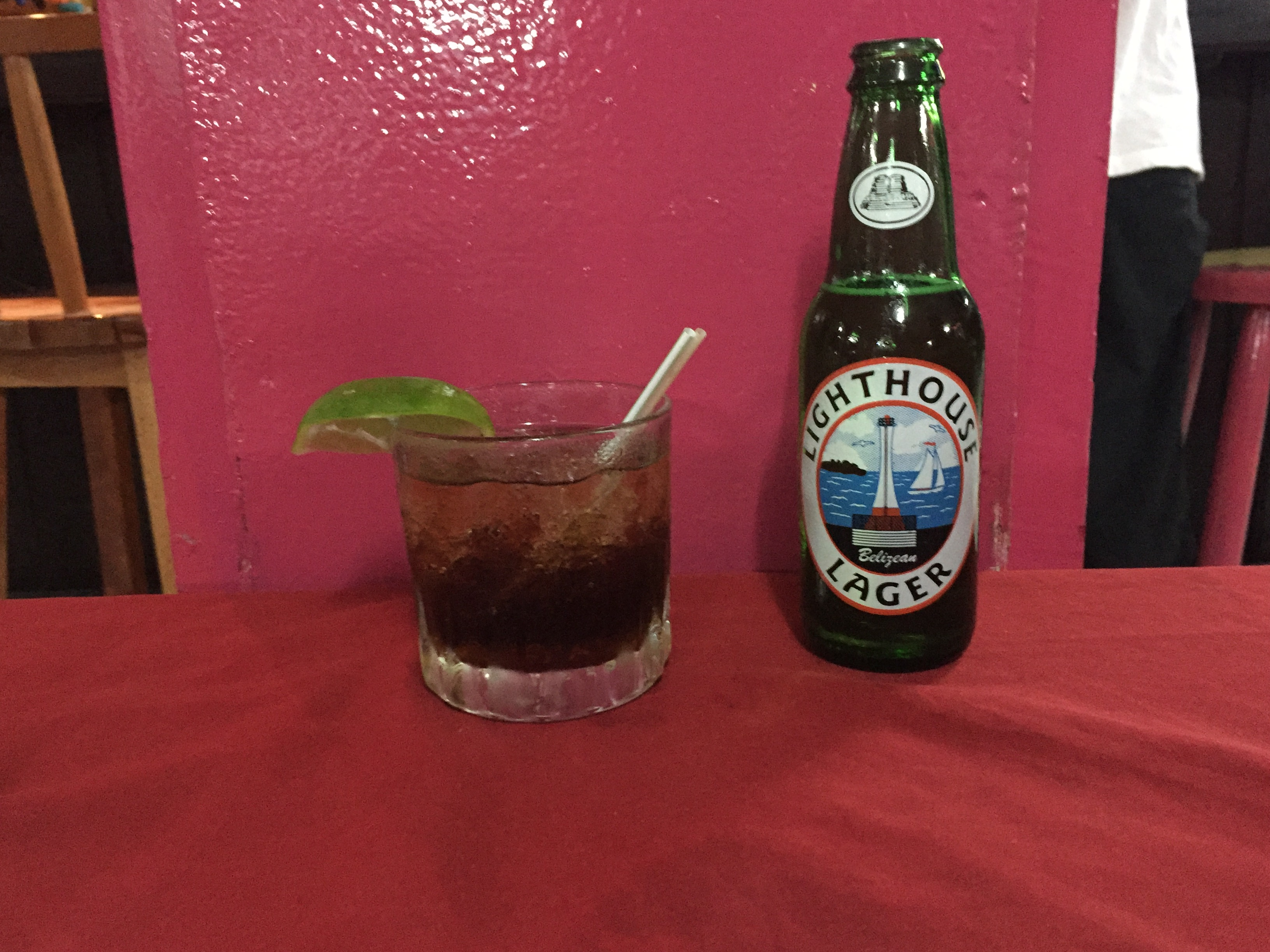 $5 Rum and Coke and Lighthouse light beer