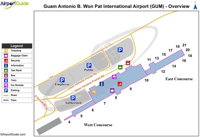 Guam Airport Map