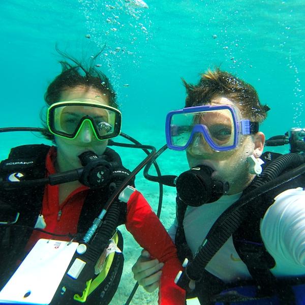 Us Diving in Guam