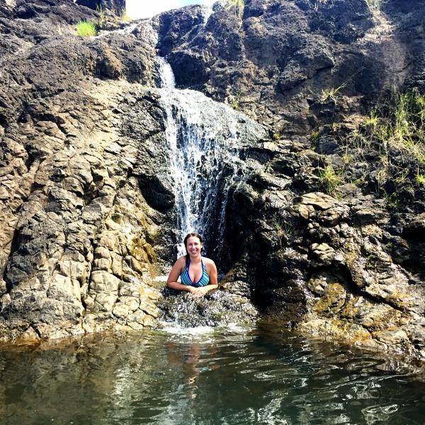 Waterfall at Priest pools Guam