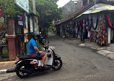 Johnny Biking through Lovina